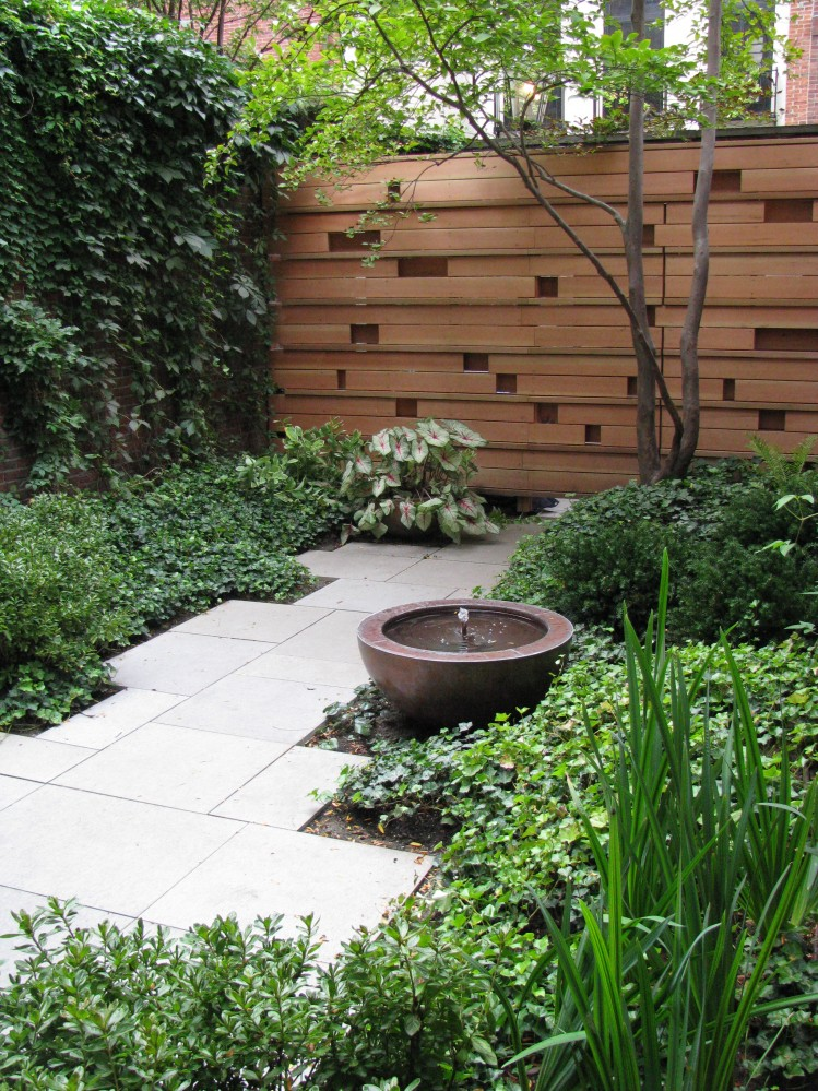 Home garden boston ma garden design irrigation system for Courtyard landscape design